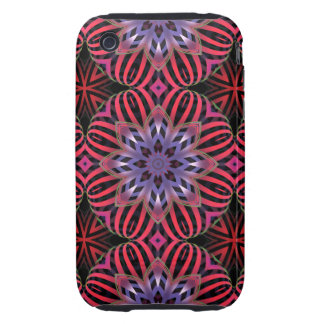 Striped flowers iPhone 3 tough covers