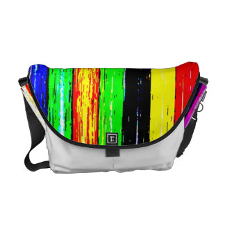 Striped Funky Lanes Rickshaw Messenger Bag