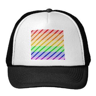 Striped Gay Pride Flag Trucker Hat