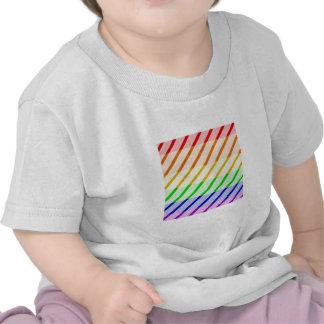 Striped Gay Pride Flag Tshirts