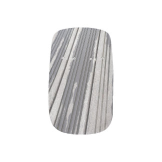 Striped grey/brown minx nails minx nail art