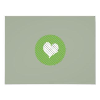 Striped heart Green Art Photo