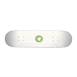 Striped heart Green Skate Board Deck