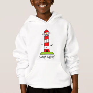 Striped lighthouse hoodie   Nautical kids clothing