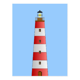 Striped Lighthouse Postcard