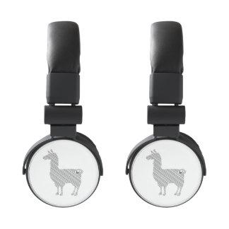 Striped Llama Headphones