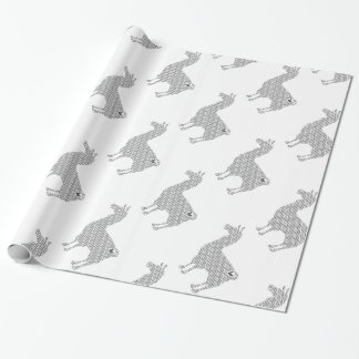 Striped Llama Wrapping Paper