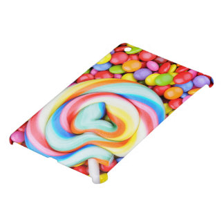 Striped Lollipop And Multicolored Smarties Cover For The iPad Mini