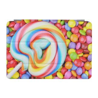 Striped Lollipop And Multicolored Smarties iPad Mini Cover