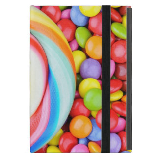 Striped Lollipop And Multicolored Smarties iPad Mini Cover