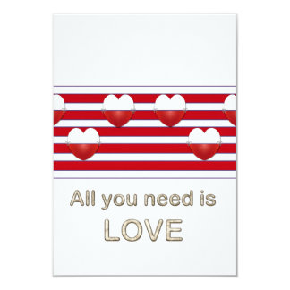 Striped Love Valentine's Day Party Invitations