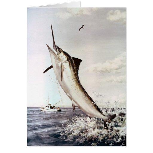 Striped Marlin Card
