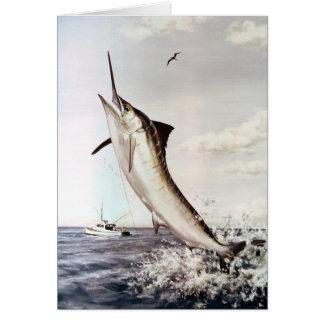 Striped Marlin Greeting Card