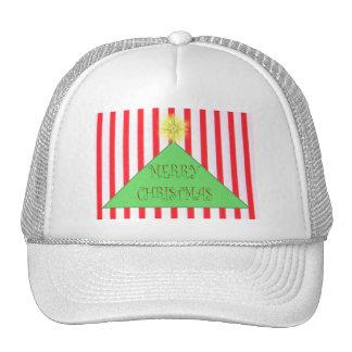 Striped Merry Christmas Tree Cap