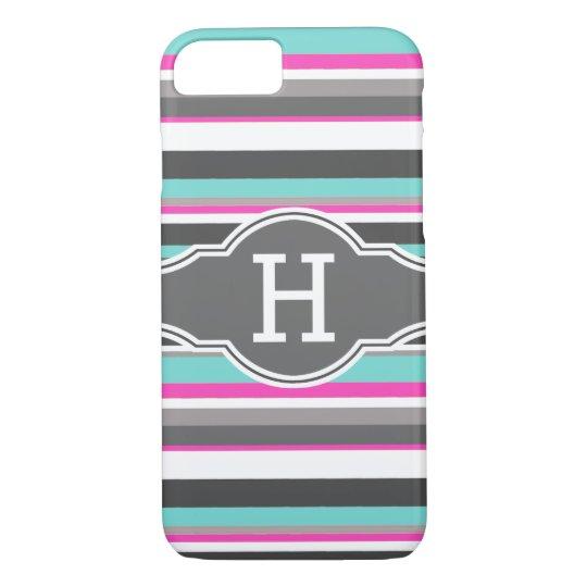 Striped Monogram iPhone 8/7 Case