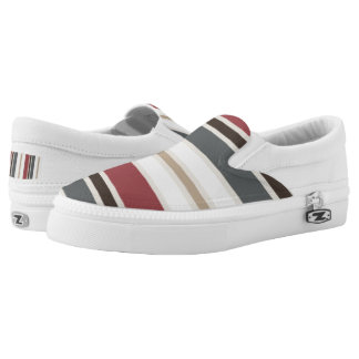 striped mood printed shoes
