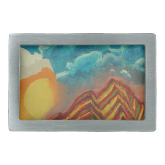 Striped mountain belt buckles