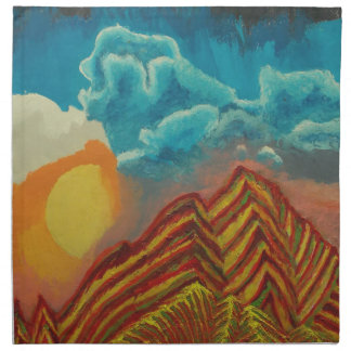 Striped mountain napkin