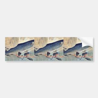 Striped mullet Bora by Ando, Hiroshige Ukiyoe Bumper Stickers