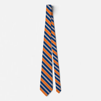 Striped Orange And Blue Ties For Men