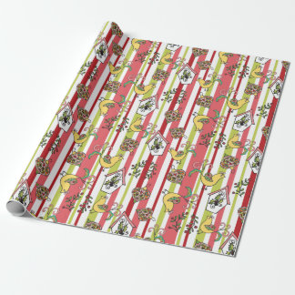 Striped Paisley Christmas Wrap Wrapping Paper