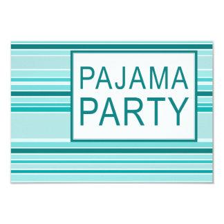striped pajama party 9 cm x 13 cm invitation card