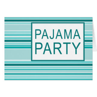 striped pajama party note card