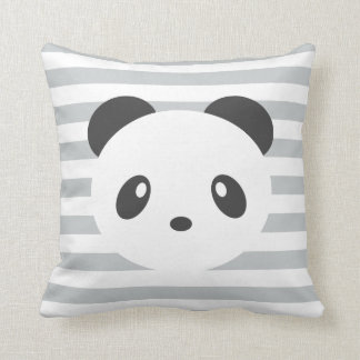 Striped panda cushion