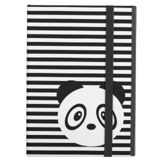 Striped panda iPad case