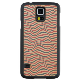 Striped pattern 2 carved maple galaxy s5 case