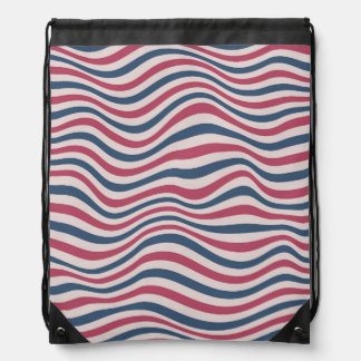 Striped pattern 2 drawstring bag