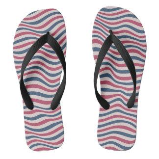 Striped pattern 2 flip flops