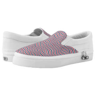 Striped pattern 2 slip on shoes