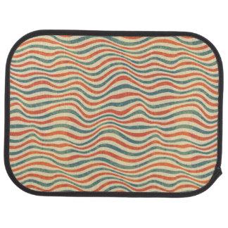Striped pattern car mat
