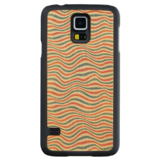 Striped pattern carved maple galaxy s5 case