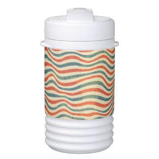 Striped pattern drinks cooler