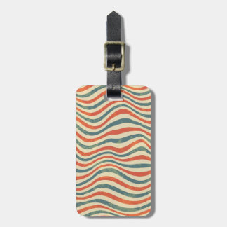 Striped pattern luggage tag
