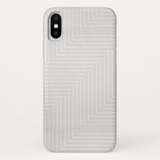 Striped pattern paper background iPhone x case
