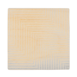 Striped pattern paper background wood coaster