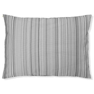 Striped Pattern Print Stripes Grey Gray Pet Bed