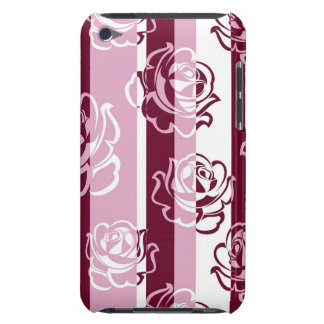 Striped pattern with roses iPod touch Case-Mate case