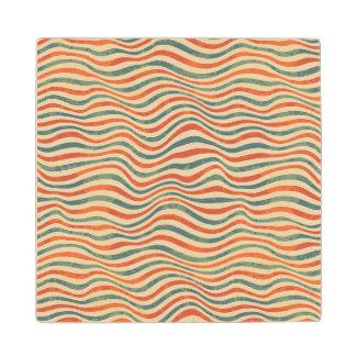 Striped pattern wood coaster
