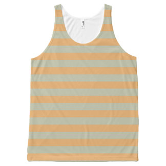 Striped peach All-Over print tank top
