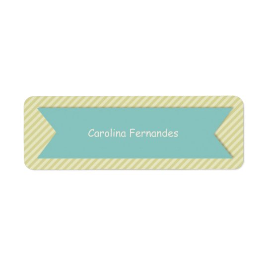 Striped Personalised Name Tag Labels