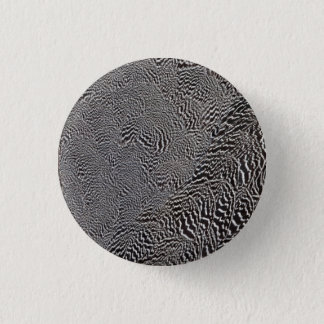 Striped Pheasant Feather Abstract 3 Cm Round Badge