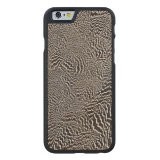 Striped Pheasant Feather Abstract Carved Maple iPhone 6 Case