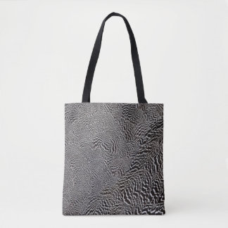 Striped Pheasant Feather Abstract Tote Bag