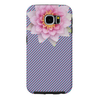 Striped Phone Case With Beautiful Flower