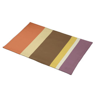 Striped Placemat - Fat Stripes (Burnt Orange)