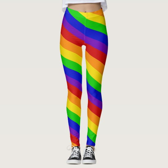 Striped Rainbow Colours Leggings PRIDE Colourful